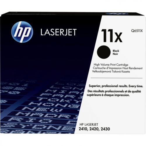 Genuine HP 11X High Yield Black LaserJet Toner Cartridge (Q6511X)
