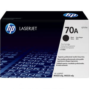 Genuine HP 70A Black LaserJet Toner Cartridge (Q7570A)