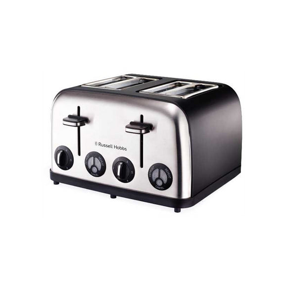 Russell Hobbs Toaster - 4 Slice - Matt Black Stainless Steel (862511)