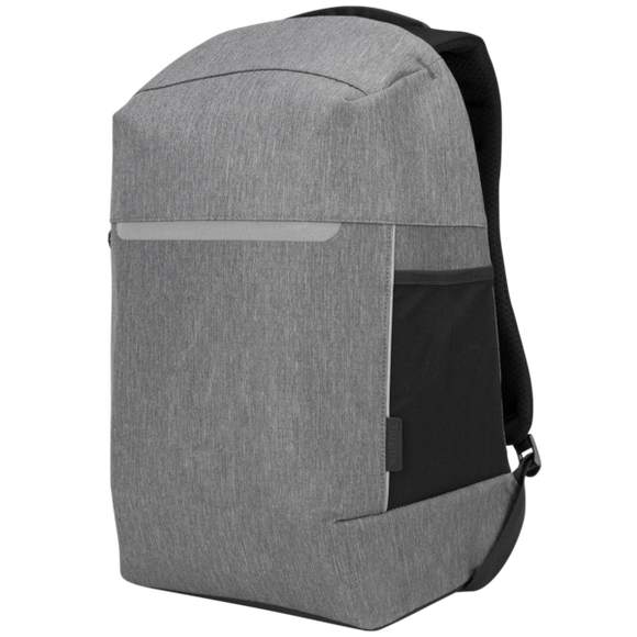Targus 15.6 Inch CityLite Security Backpack for Work, Commute or University – Grey (TSB938GL)