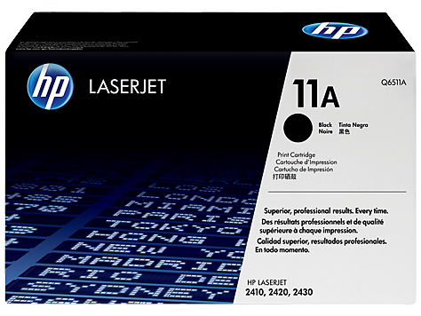 Genuine HP 11A Black LaserJet Toner Cartridge (Q6511A)