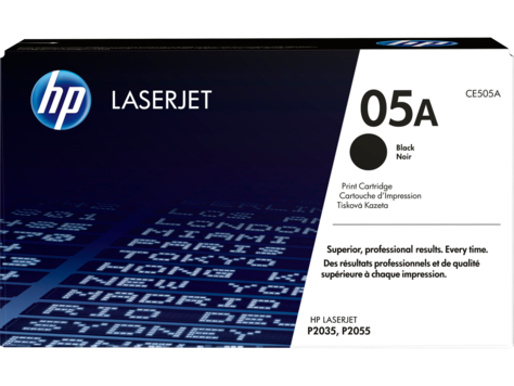 Genuine HP 05A Black LaserJet Toner Cartridge (CE505A)