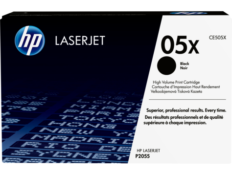 Genuine HP 05X High Yield Black LaserJet Toner Cartridge (CE505X)