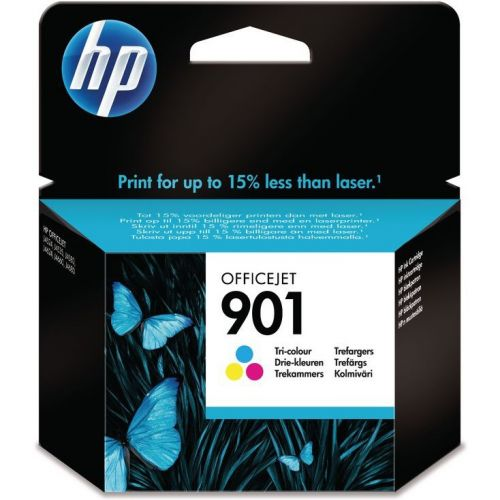Genuine HP 901 Tri-colour OfficeJet Ink Cartridge (CC656AE)