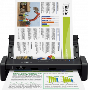 Epson WorkForce DS-360W Portable scanner with Wi-Fi and battery (B11B242401)
