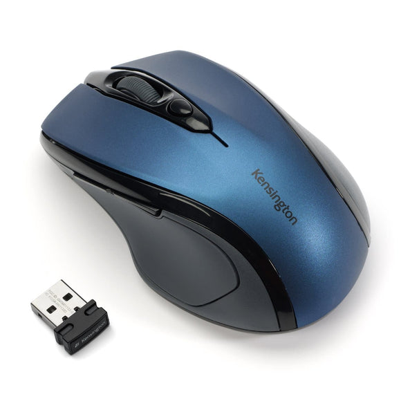 Kensington Pro Fit® Mid-Size Wireless Mouse - Sapphire Blue - K72421WW