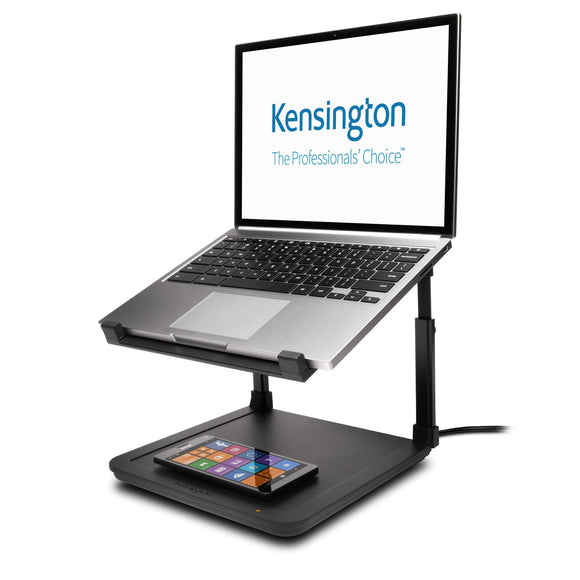 Kensington SmartFit® Laptop Riser with Wireless Phone Charging Pad - K52784WW