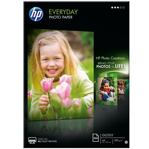 HP Everyday Glossy Photo Paper 100-sheet A4 210 x 297 mm (Q2510A)