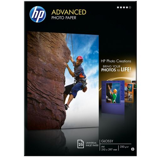 HP Advanced Glossy Photo Paper 25-sheet A4 210 x 297 mm (Q5456A)