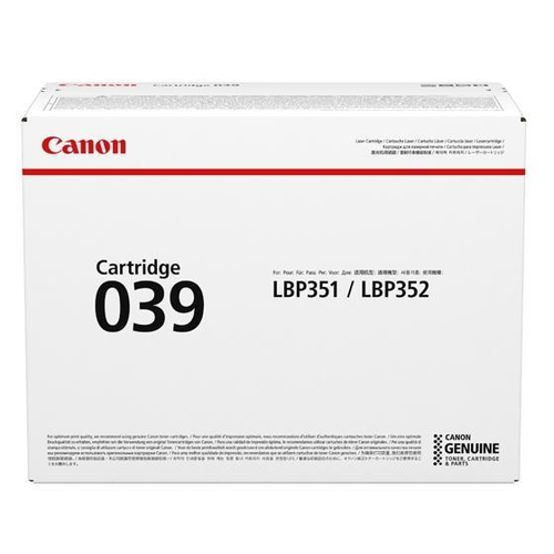 Genuine Canon 039 Black Laser Toner Cartridge