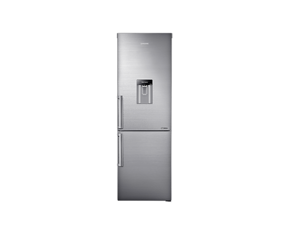 SAMSUNG 321L Net Top Fridge Bottom Freezer Combination Fridge With Water Dispenser - Inox Stainless Steel (RB31HWJ3DSS)