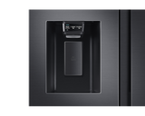 Samsung 617L Net 2 Door Frost Free Side by Side Fridge with Non-Plumbed Water & Ice Dispenser - Gentle Black (RS64R5311B4)