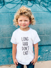 Long Hair Don't Care Toddler Tee