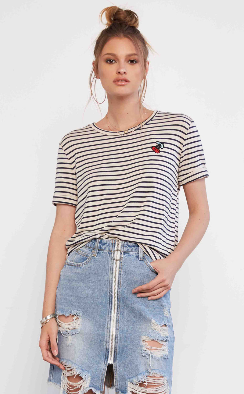 Stripes & Cherries Tee Shirt