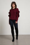 Solei Ruffle Knit Sweater