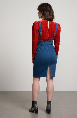 Keira Denim Pinafore Dress