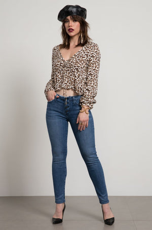 Kaia Leopard Sinced Top