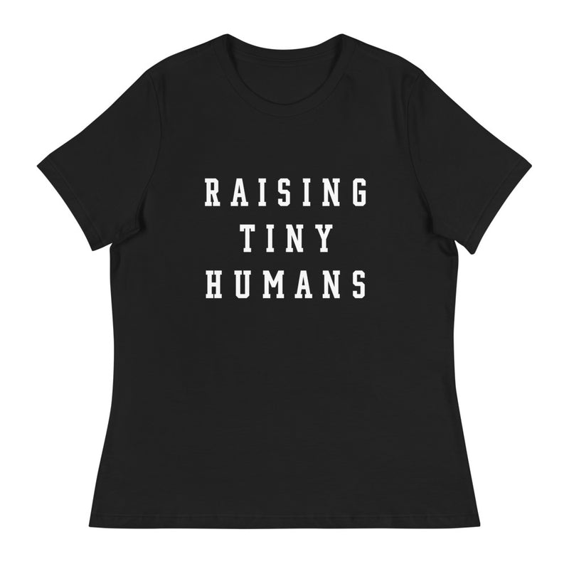 Raising Tiny Humans Black Tee