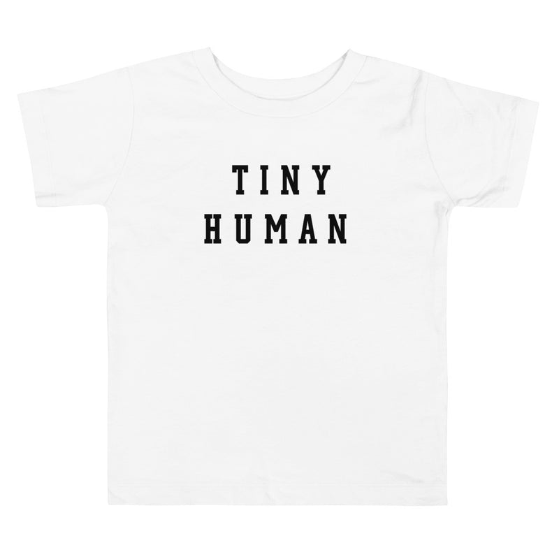 Tiny Human White Toddler Tee