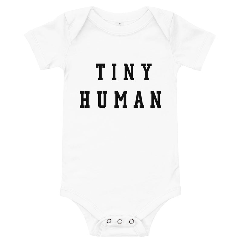 Tiny Human White Onesie