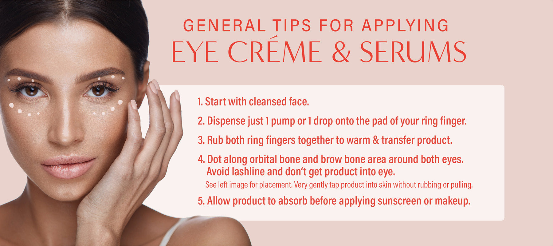 tips for applying eye creme