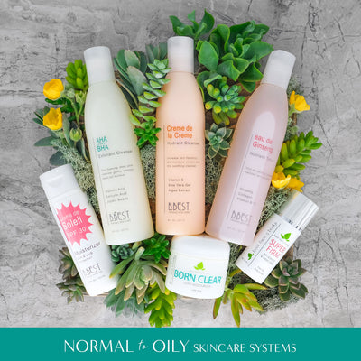 Skincare System for Normal to Oily skin
