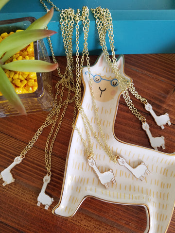 Alpaca Charm Necklace