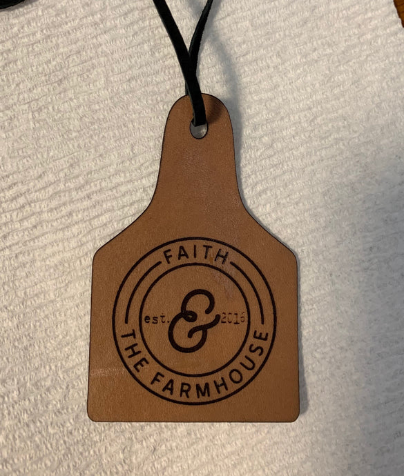 Leather Air freshener Linen