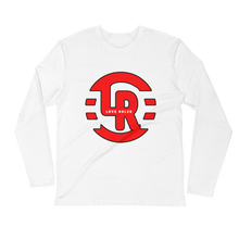 Red White Long Sleeve Fitted Crew