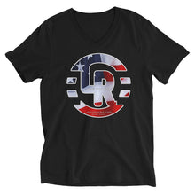 American flag Unisex Short Sleeve V-Neck T-Shirt