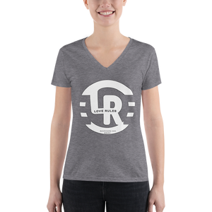 Rocka Woman Triblend Deep V-Neck T-Shirt with Tear Away Label
