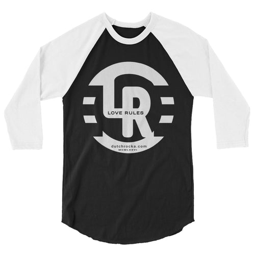 TWO TONE 3/4 sleeve raglan shirt