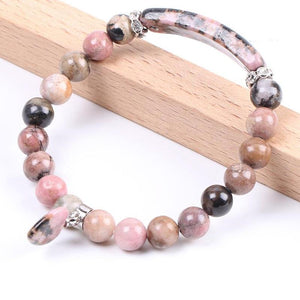 Pink Rhodonite Love Bracelet - The Living Naga