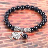 Black Natural Onyx Healing Bracelet - The Living Naga