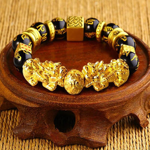Lucky Gold Pixiu Bracelet - The Living Naga