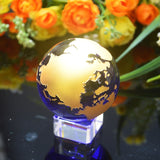 Golden Crystal Globe (different bases available) - The Living Naga