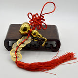 Prosperity Wu Lou Iching Coins in Ruyi Knot - The Living Naga