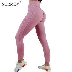 a726a748192c4 NORMOV Sexy Push Up Leggings Women Workout Clothing Heart High Waist  Breathable