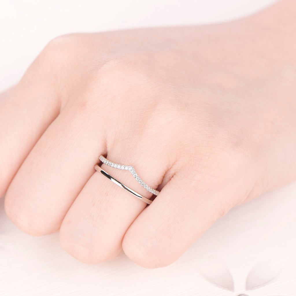 Sterling Silver Plain Curved Wedding Bands – Farjary Jewelry