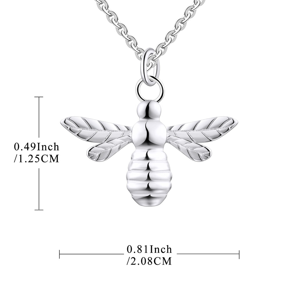 FJ Sterling Silver Little Bee Pendant Necklace
