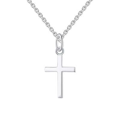 "Farjary 925 Sterling Silver Cross Pendant Necklace with 18"" Chain"