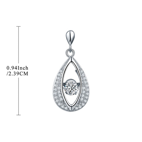 925 Silver Omiga Claps Dancing Earrings