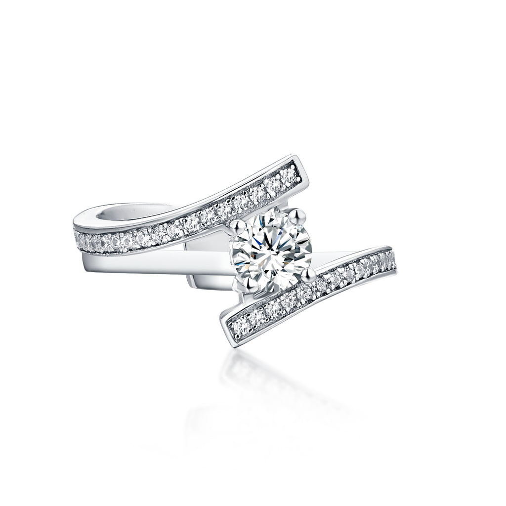 Sterling Silver Cubic Zirconia Bridal Set Ring