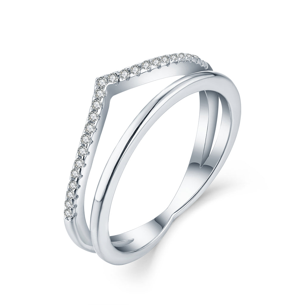 Sterling Silver Curved And Plain Wedding Band