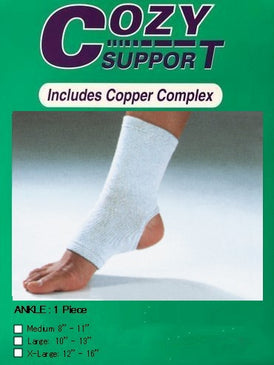 112 Ankle Standard - Cozy Support Raal Copper Complex support generates electricity to work with your body to ease stiffness aand pain while you sleep. Special technology from Japan