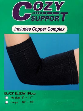 113 Elbow Standard (BLK) - Cozy Support Raal Copper Complex support generates electricity to work with your body to ease stiffness aand pain while you sleep. Special technology from Japan