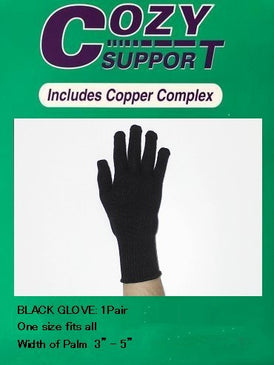 111 Glove Standard (BLK) - Cozy Support Raal Copper Complex support generates electricity to work with your body to ease stiffness aand pain while you sleep. Special technology from Japan