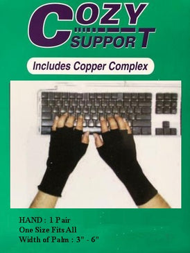 104 Hand Standard (BLK) - Cozy Support Raal Copper Complex support generates electricity to work with your body to ease stiffness aand pain while you sleep. Special technology from Japan