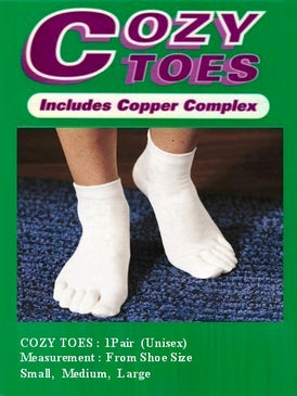 117 Toe socks Standard (Uni-sex) - Cozy Support Raal Copper Complex support generates electricity to work with your body to ease stiffness aand pain while you sleep. Special technology from Japan