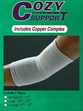 114 Elbow Standard - Cozy Support Raal Copper Complex support generates electricity to work with your body to ease stiffness aand pain while you sleep. Special technology from Japan